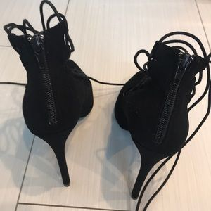 Charlotte Russe Shoes - Charlotte Russe Sexy Lace up with zip up back